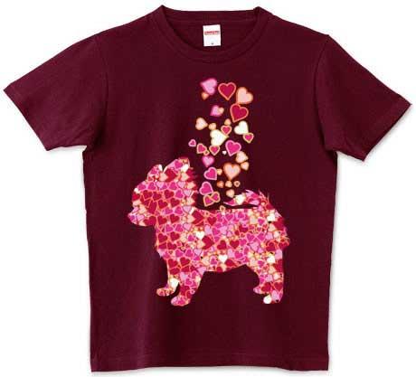 チワワとハートのふりかけTシャツ