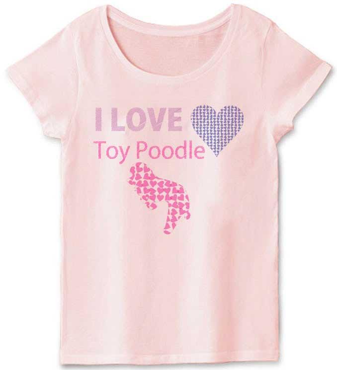 ilove トイプードルTシャツ