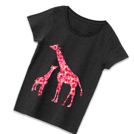 キリンブラックカラーデザインTシャツ