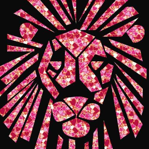 ハートでできたライオンのマーク