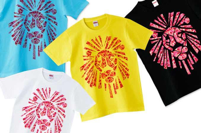 ノーマルボディのハートのライオンTシャツ