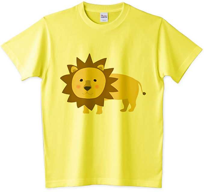 猛獣ライオンTシャツ