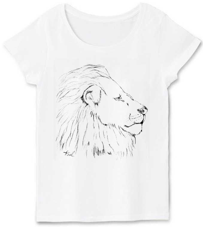アートなライオンTシャツ