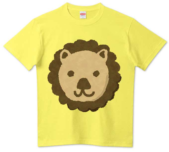 可愛いクッキーのライオンTシャツ