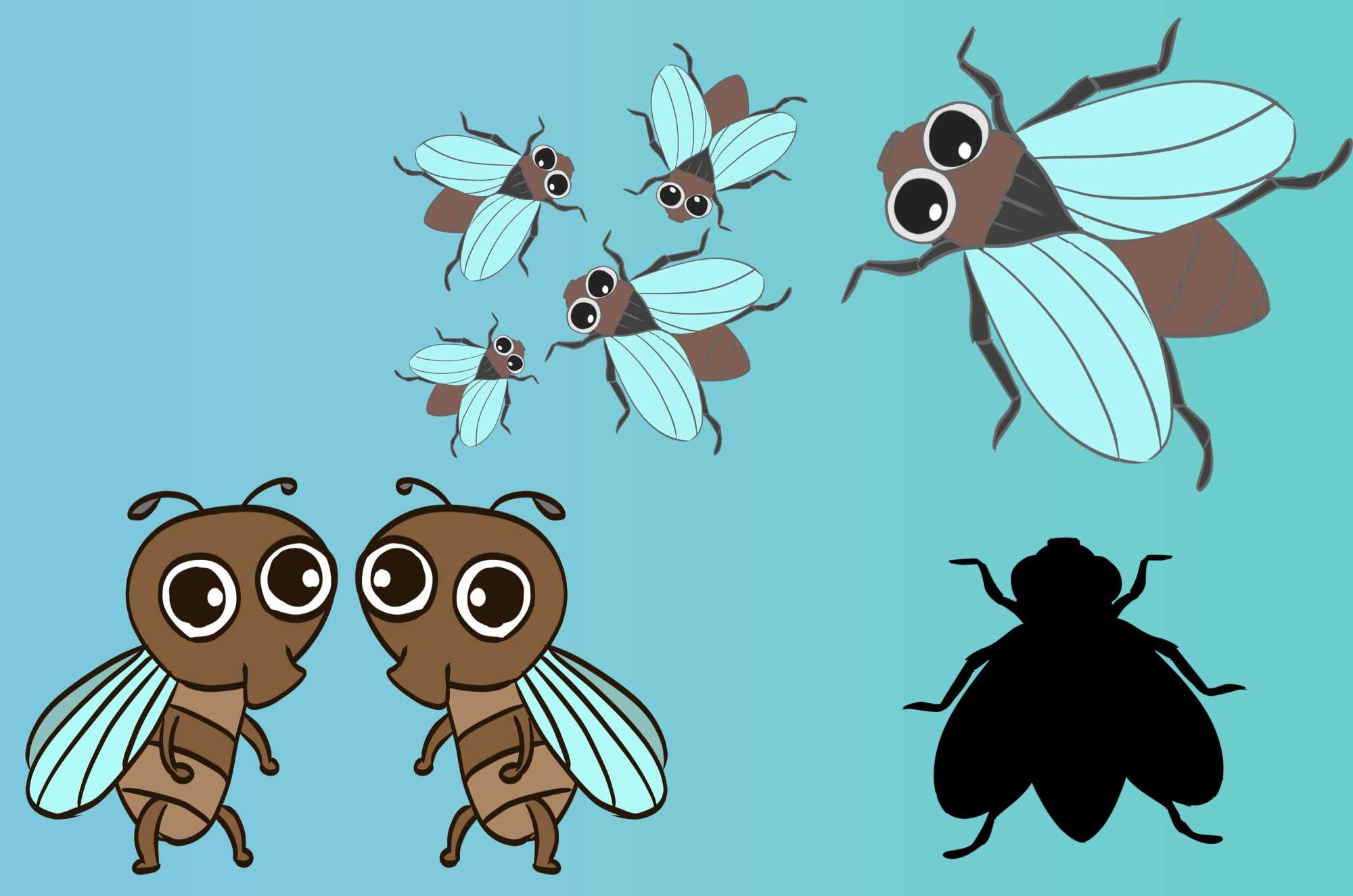 ハエの無料イラスト - 害虫・可愛い昆虫の素材