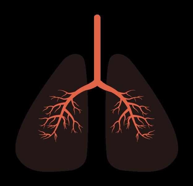 黒い肺のイラスト
