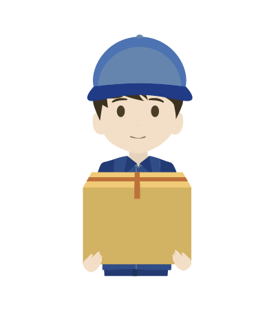 荷物を持つ配送員(男)のイラスト