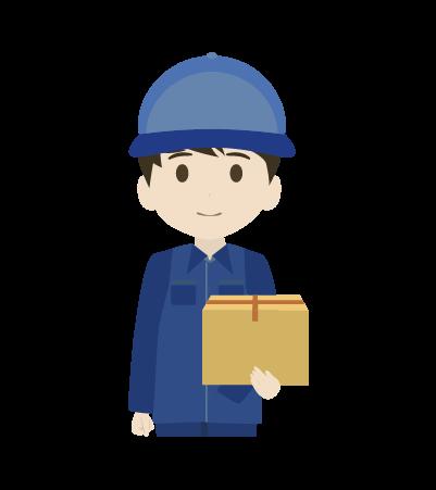 荷物を持つ配送員(男)のイラスト2