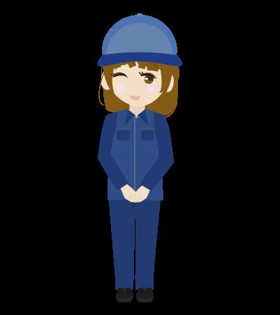 かわいい配送員(女)のイラスト