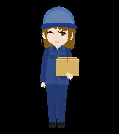 荷物をもつ配送員(女)のイラスト2