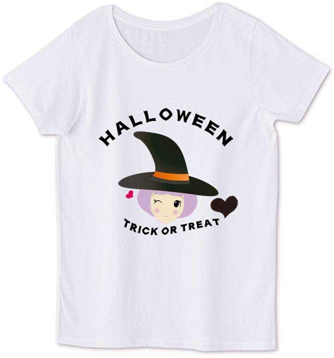 可愛い魔女のキャラクターTシャツ