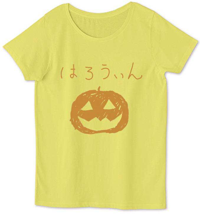 ハロウィンの落書きTシャツ