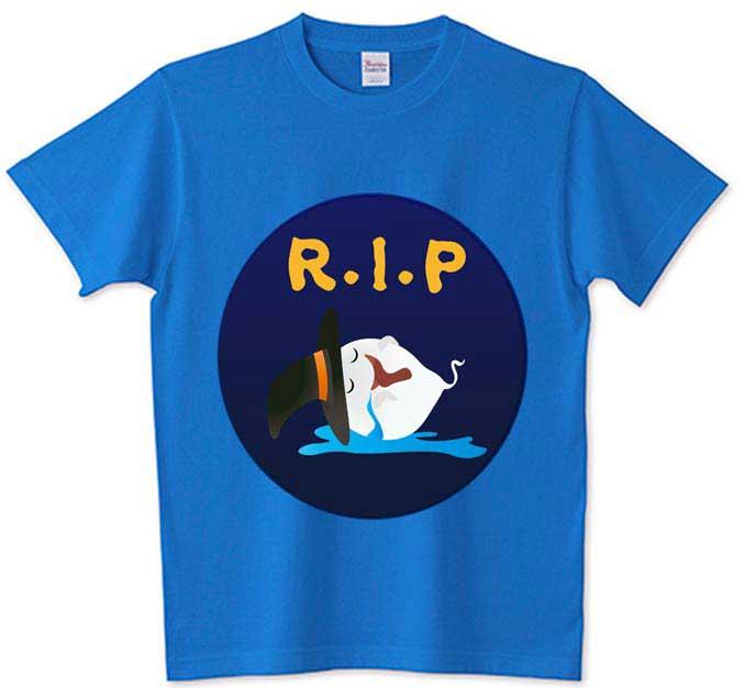 R・I・P安らかに眠っているおばけTシャツ