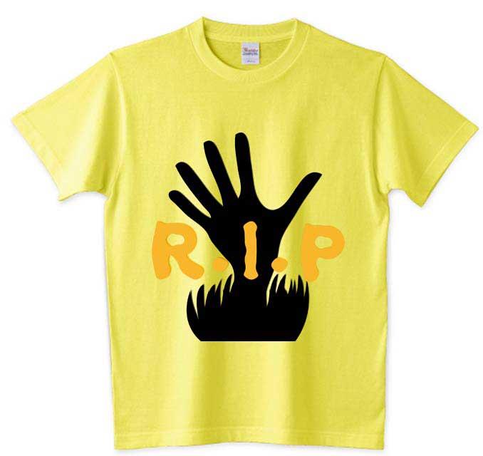 R・I・P土から出る手のTシャツ