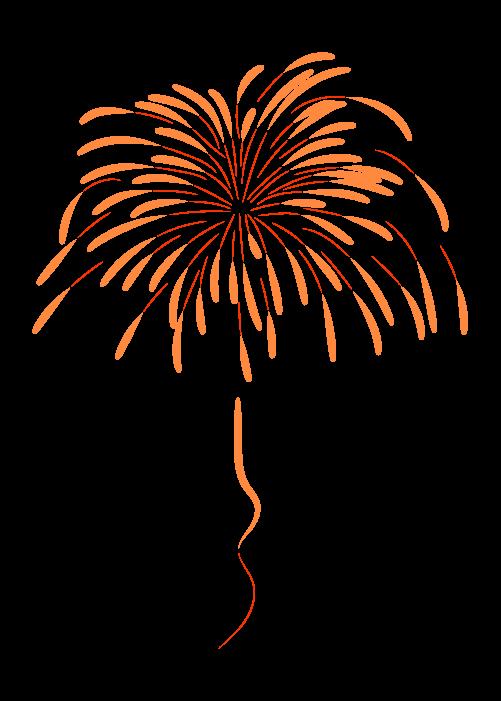 打ち上げ花火のイラスト6