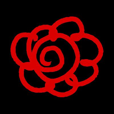 手書きの花丸のイラスト