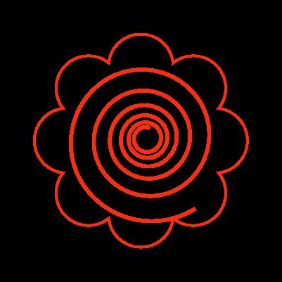 かわいい花丸のイラスト