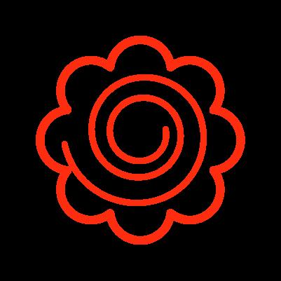 かわいい花丸のイラスト2