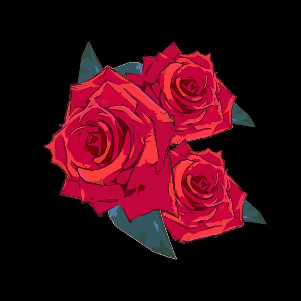 薔薇の花のイラスト