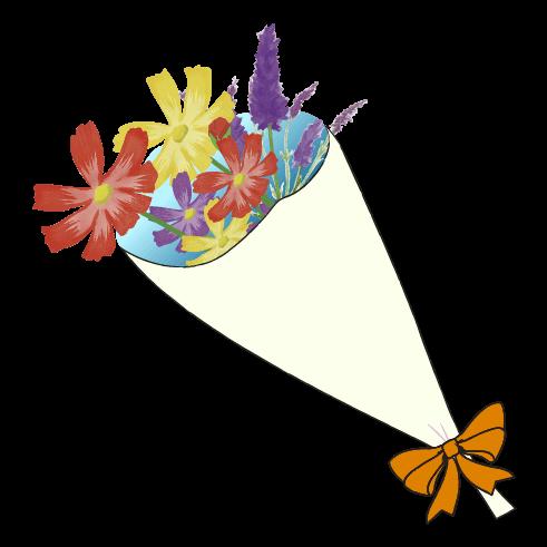 手書き風の花束のイラスト