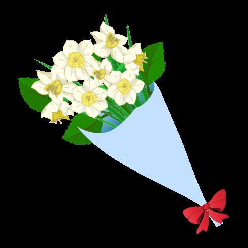 白い花束のイラスト