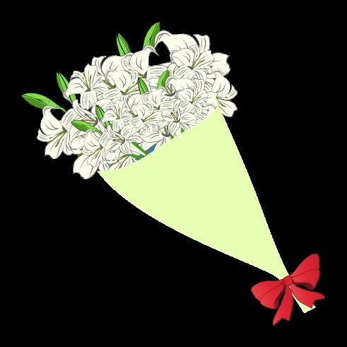おしゃれな花束のイラスト
