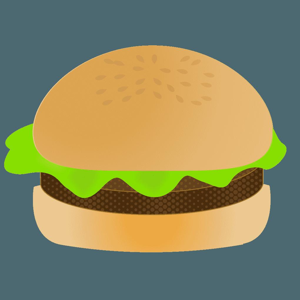 ノーマルハンバーガーイラスト