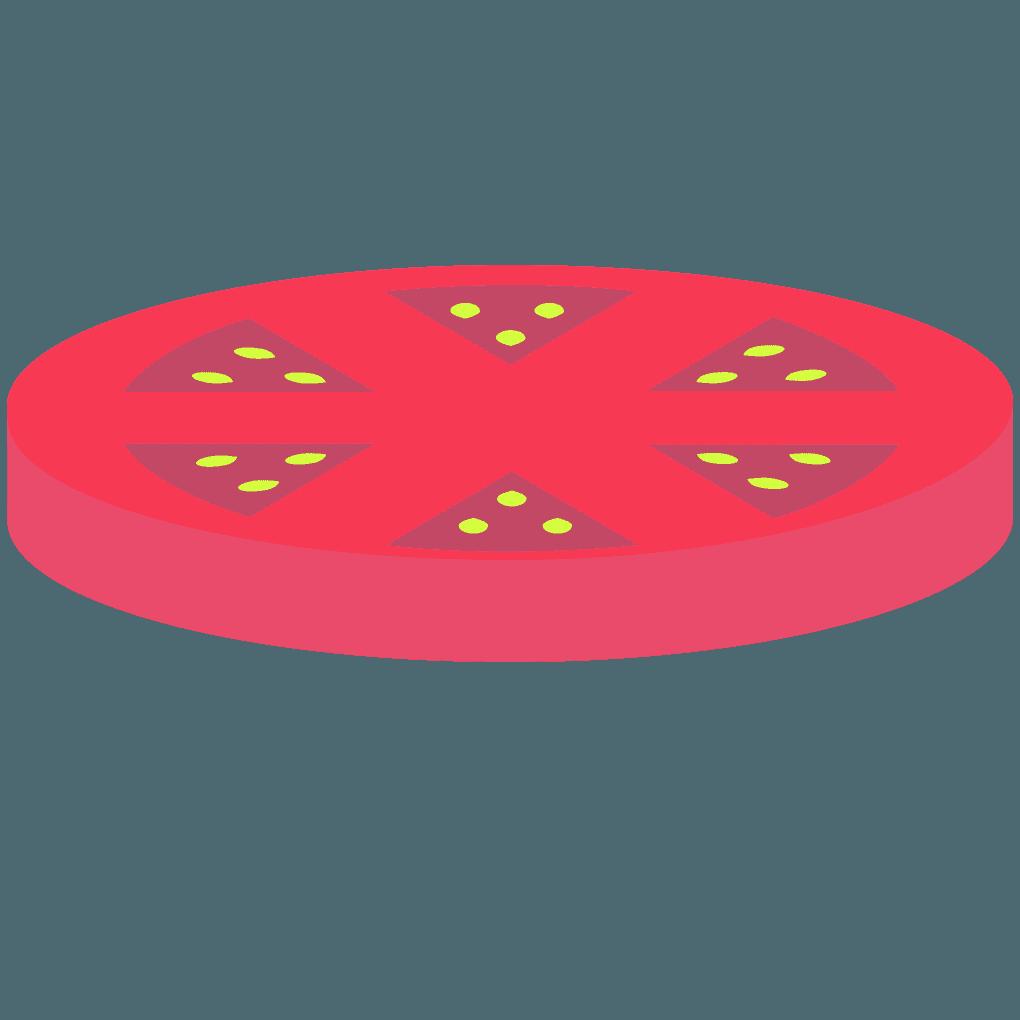 ハンバーガーのトマトイラスト