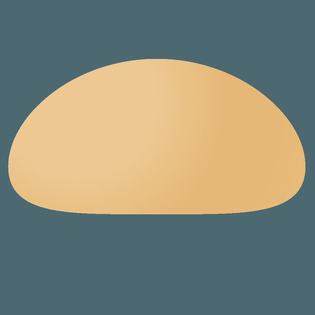 ハンバーガー上蓋パンイラスト