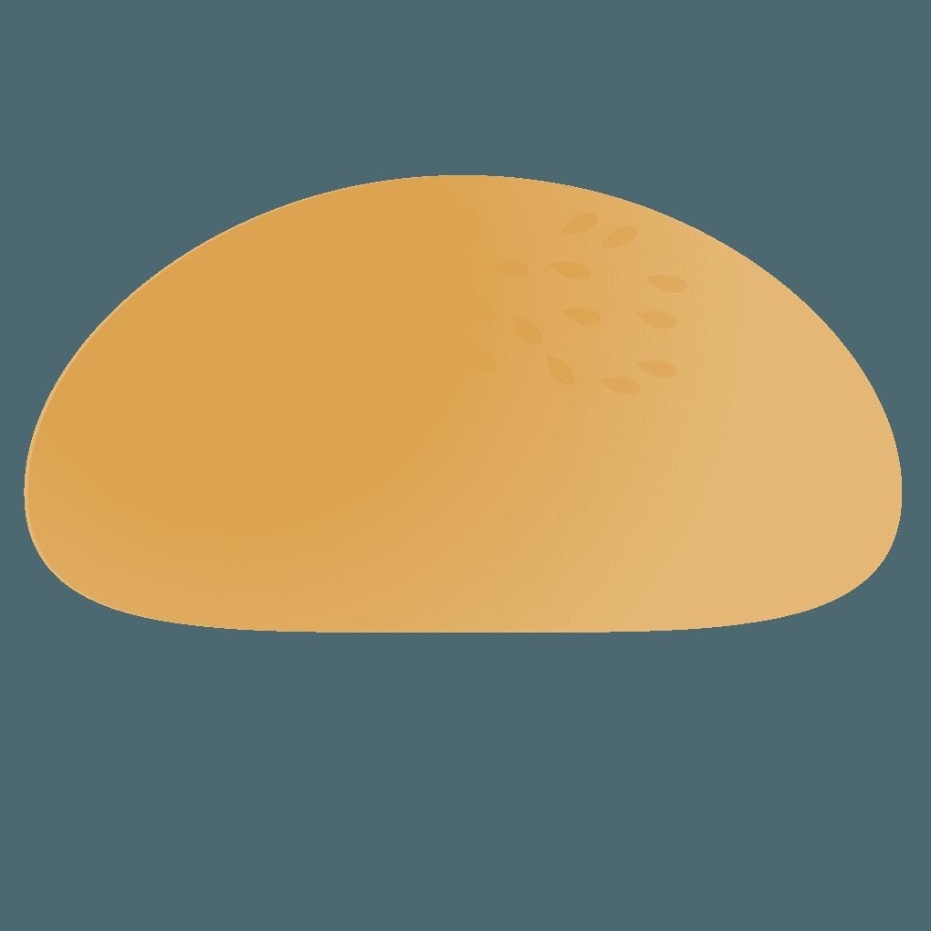 ハンバーガー上蓋パンごま付きイラスト