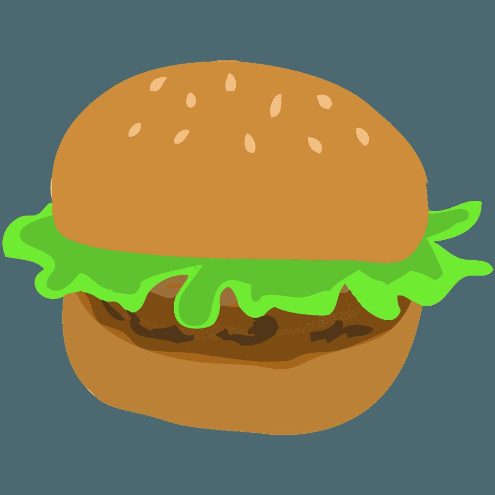 可愛いハンバーガーイラスト