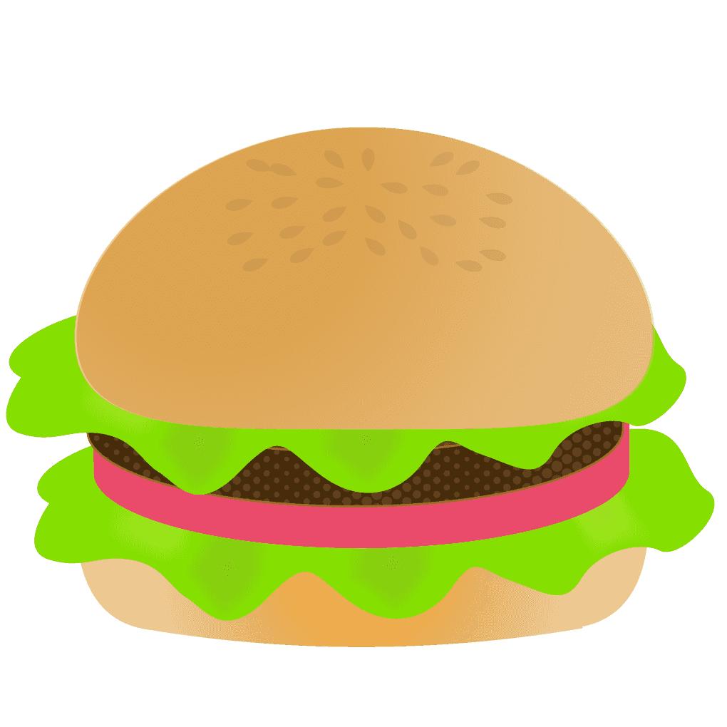ハンバーガーシンプルレタスイラスト