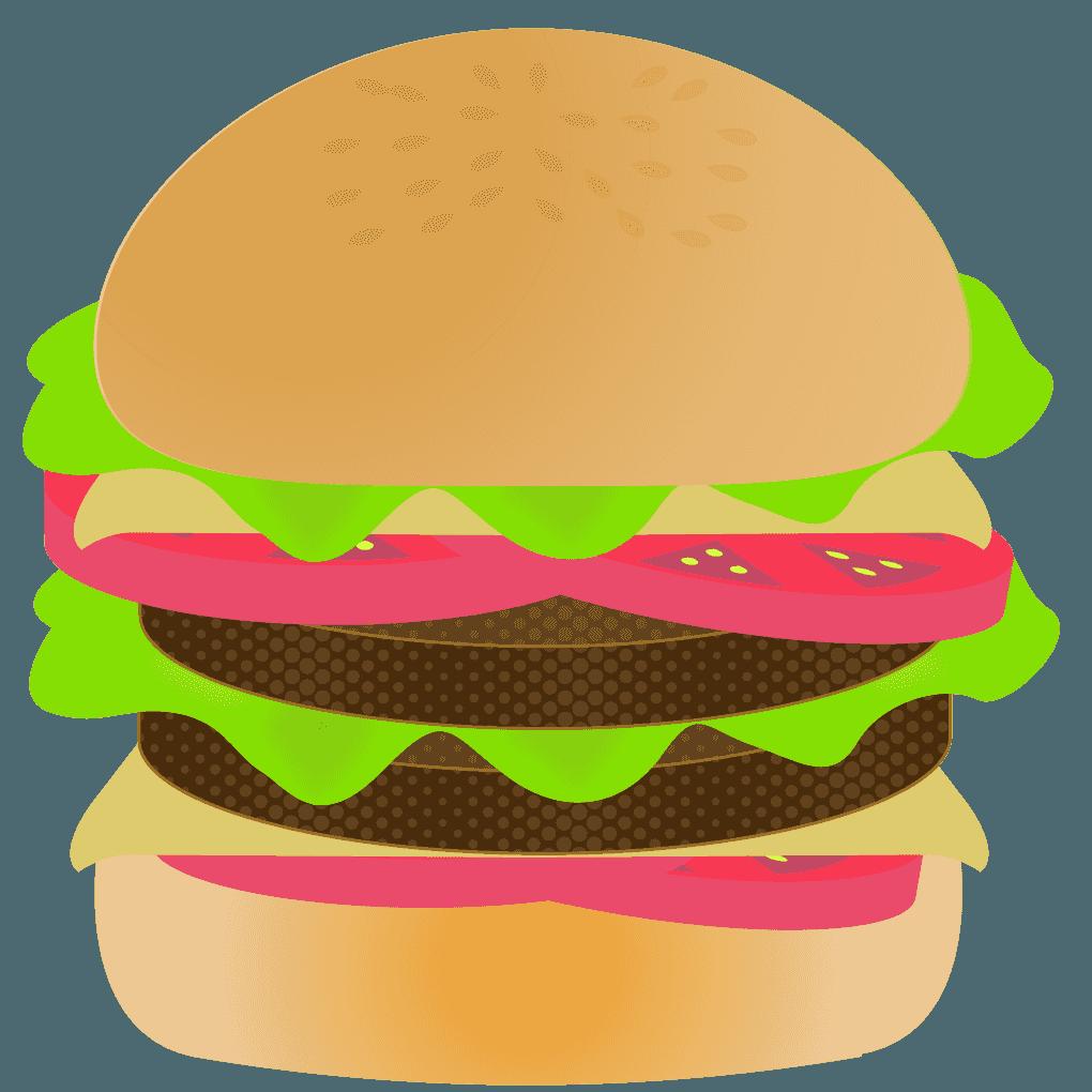 ダブルチーズハンバーガーイラスト