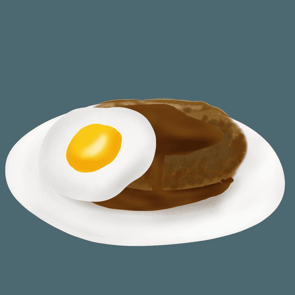 エッグハンバーグイラスト