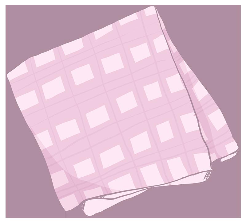 ハンカチのイラスト(ピンク)