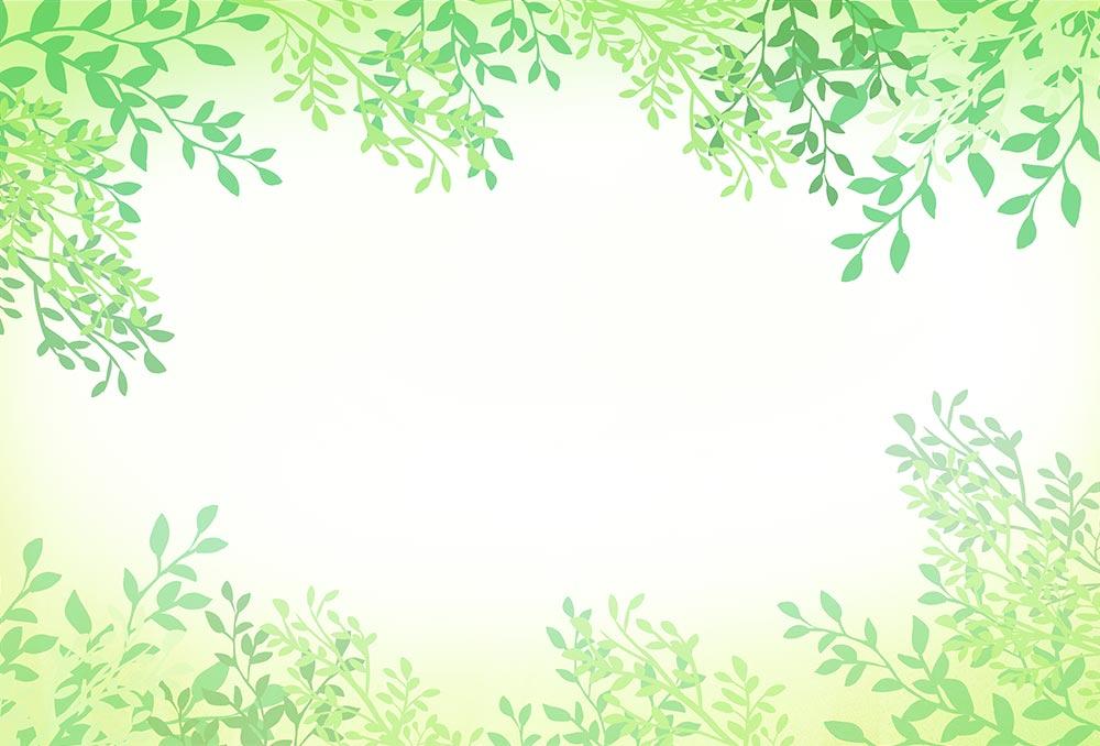 葉のフレームのイラスト