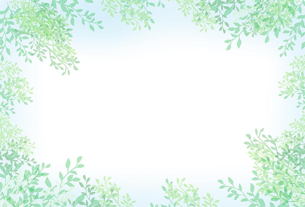 葉っぱ背景のイラスト