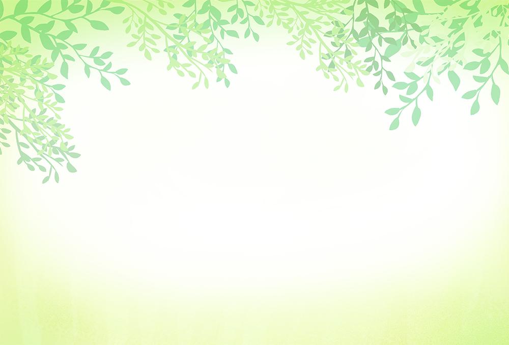 上だけに葉がある背景イラスト