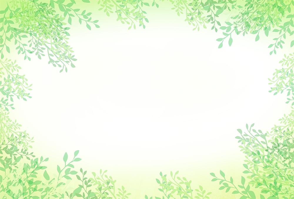葉のフレームイラスト