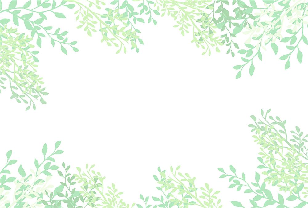 背景が白い葉の背景イラスト