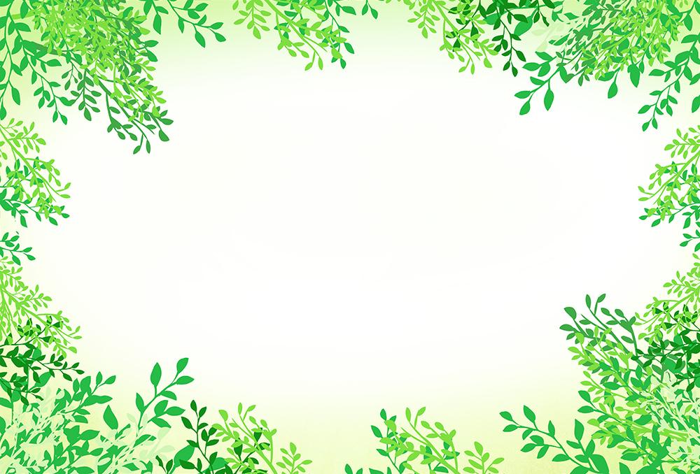 濃い葉っぱの背景フレームイラスト