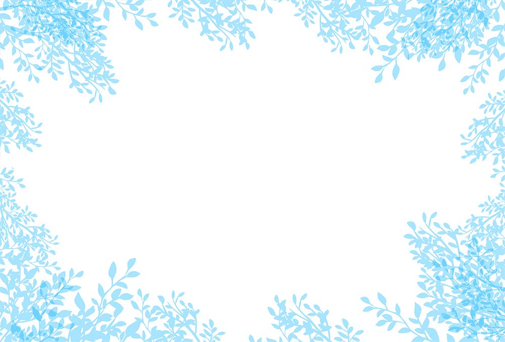 青い葉の背景イラスト