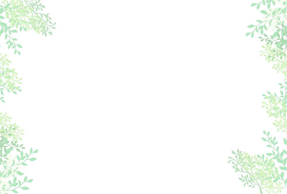 葉の背景フレーム(横のみ)のイラスト