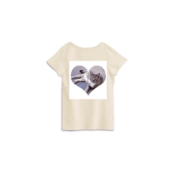 pgで作ったハート形ネコTシャツ