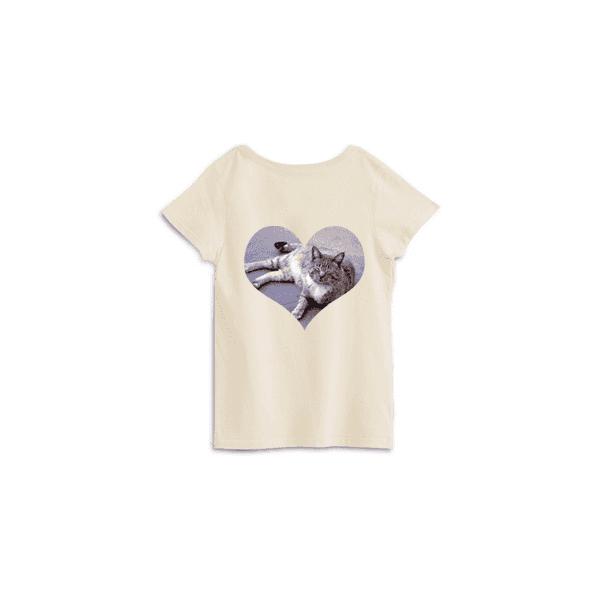 pngで作ったハート形ネコTシャツ