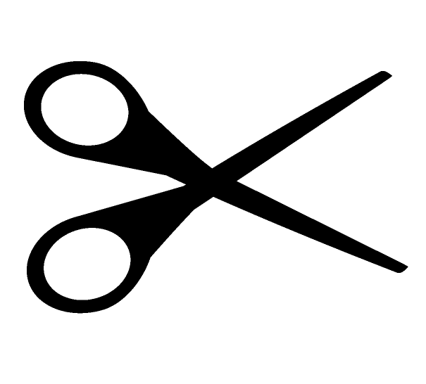 ハサミのシルエットアイコン
