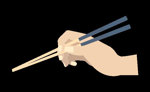 箸の持ち方のイラスト2