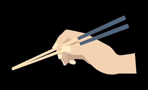 箸の持ち方のイラスト
