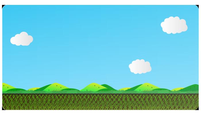 田舎の畑の背景イラスト