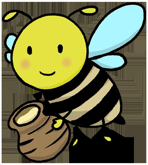可愛い手書きの蜂のイラスト